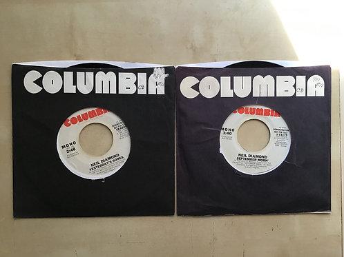 NEIL DIAMOND*45s*Yesterday's Songs*1981*September Morn'*1979 Stereo/Mo PROMO Lot
