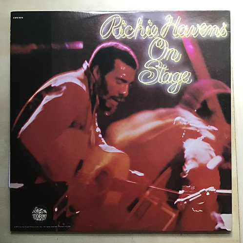 PROMO* RICHIE HAVENS ON STAGE DOUBLE LP STORMY FOREST RECORDS EX!