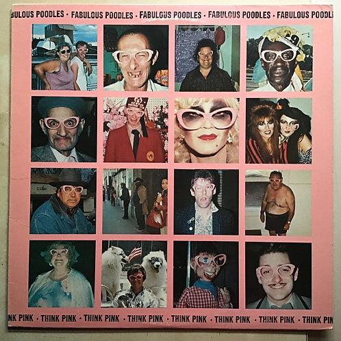 """FABULOUS POODLES """"THINK PINK"""" Promo LP rock music VG+/EX 1979 EPIC"""