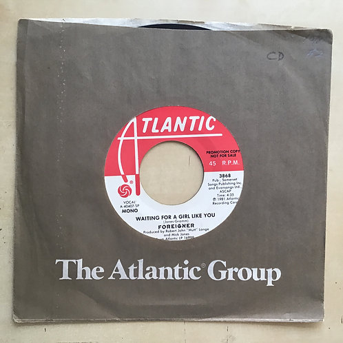 "Foreigner - Waiting For A Girl Like You 7"" VG+ Promo Vinyl 45 Atlantic 3868 USA"