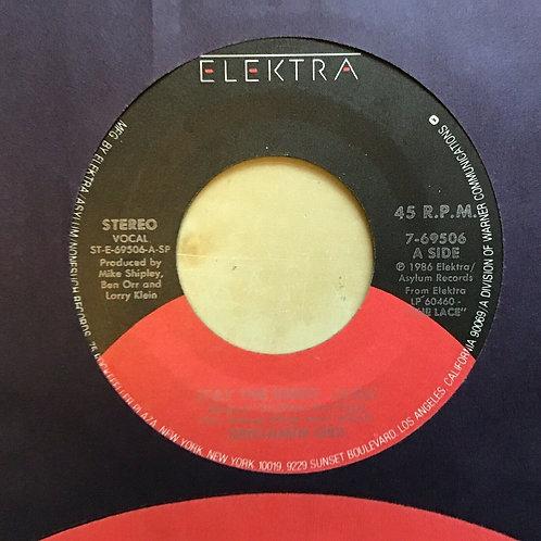 Benjamin Orr, Stay The Night ~ 1986 Elektra 45 +company sleeve