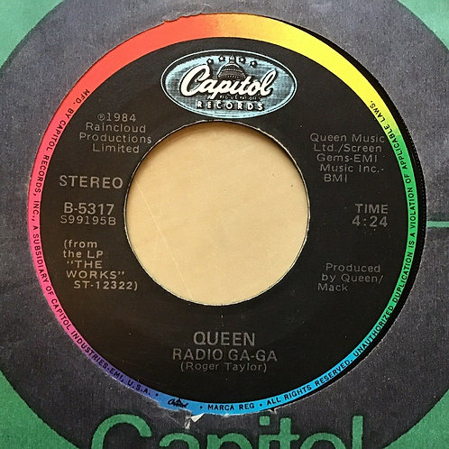 Queen - Radio Ga Ga / I Go Crazy 1984 - 7' Single 45rpm Record w/ Co. sleeve