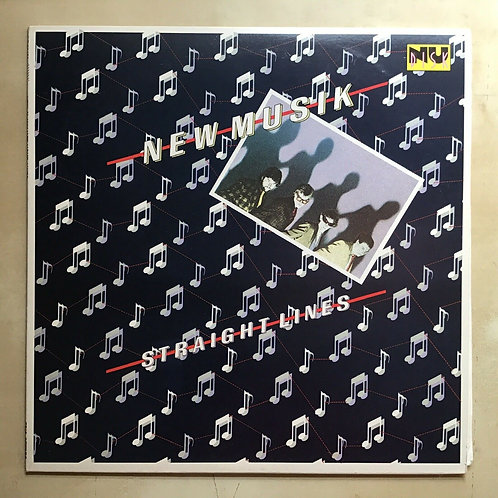 New Musik Straight Lines synthpop new wave EX, vinyl EX EP Promo