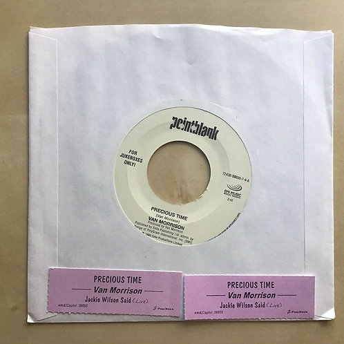 Van Morrison: Jackie Wilson Said / Precious Time 45 Rock Vinyl Record VG+
