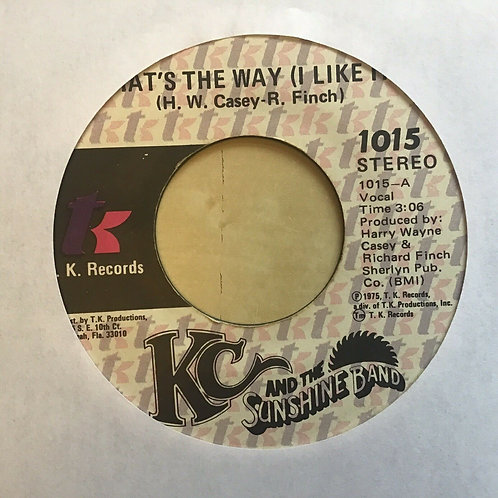 LOT OF 2 KC And The SUNSHINE BAND 45 Records-That's The Way (I Like It) +