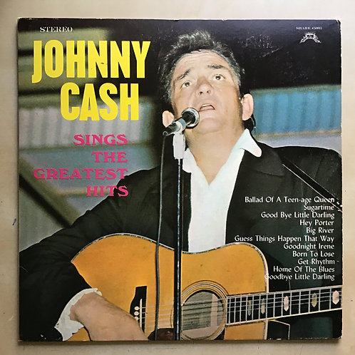 """JOHNNY CASH """"SINGS THE GREATEST HITS"""" SHARE 5003- PLAY TESTED IN VG+ CONDITION"""