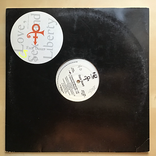 """The Artist Formerly Known As Prince """"Face Down"""" 12"""" Promo Vinyl"""