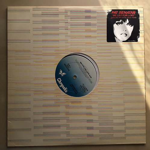 PAT BENATAR We Live For Love Specially Mixed For Rock Radio PROMO EP CHS-20-PDJ