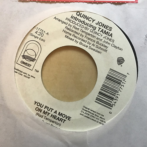 """1995 Quincy Jones & Tamia YOU PUT A MOVE ON MY HEART (45RPM 7"""" Single)"""