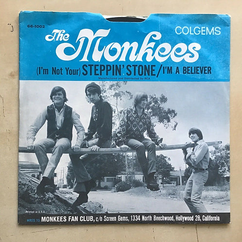 Rock 45 THE MONKEES I'm A Believer COLGEMS EX 1966 picture sleeve Rockaway