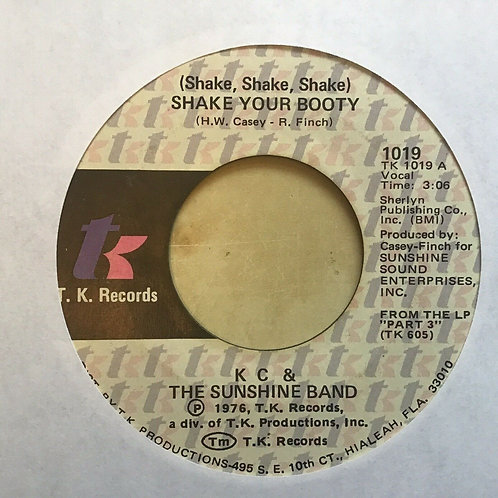 """K.C. and the Sunshine Band NM 45 rpm """"Shake Your Booty"""" b/w """"Boogie Shoes"""""""