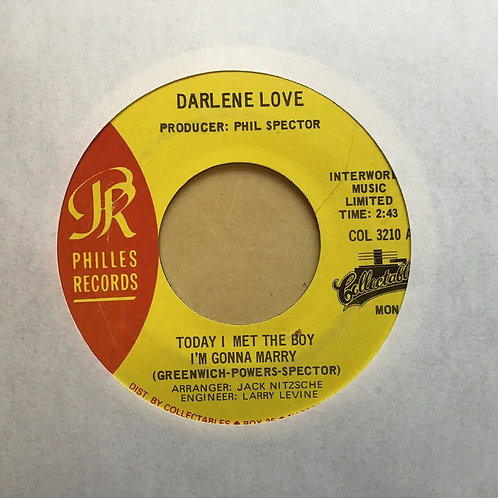 DARLENE LOVE * 45 * Today I Met The Boy *Strange Kind of Love* Phil Spector