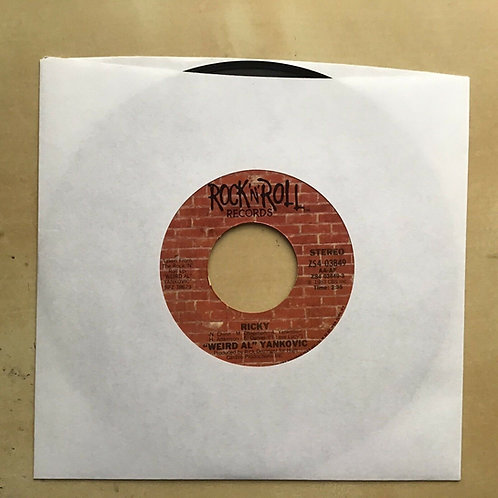 """Weird Al"" Yankovich 'Ricky'/'Buckingham Blues' 7inch single"