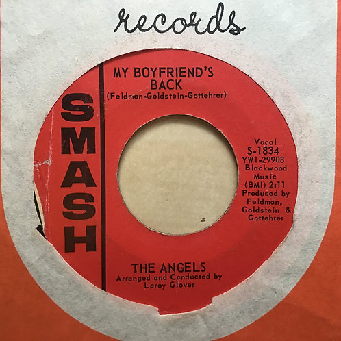 THE ANGELS 45 RPM Record MY BOYFRIEND'S BACK / (LOVE ME) NOW 1963