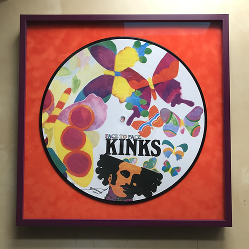 The Kinks Face to Face Earmark Picture Disc Framed