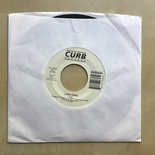 "LeAnn Rimes ""Blue""/ ""The Light In Your Eyes"" 45 on CURB Label...Country HIT"