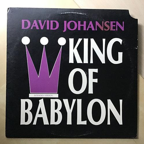 David Johansen King Of Babylon Vinyl Promo Single - PB 4112DJ - Passport Records
