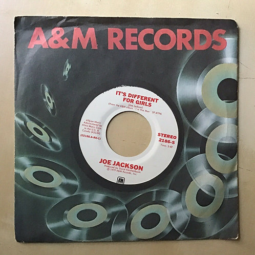 PROMO 45 Joe Jackson IT'S DIFFERENT FOR GIRLS mono / stereo A&M