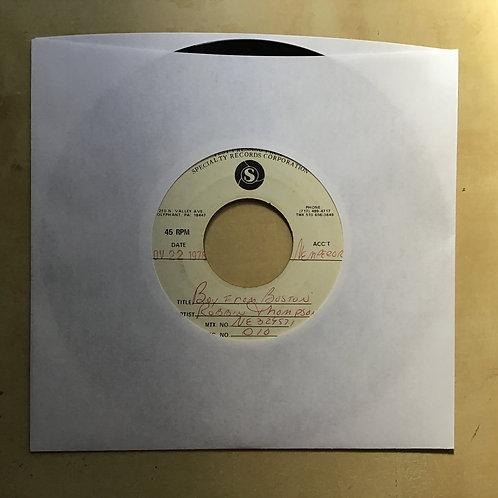 """7"""" vinyl - ROBBIN THOMPSON - BOY FROM BOSTON 1976 SRC TEST PRESSING"""