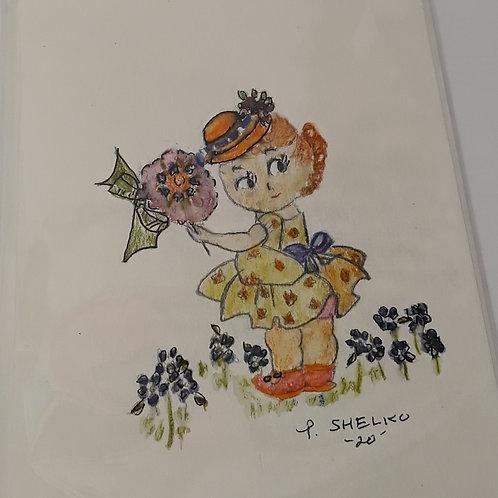 Miss Sunshine Original Art Card #26