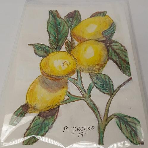 Lemons on the Tree Original Art Card #18