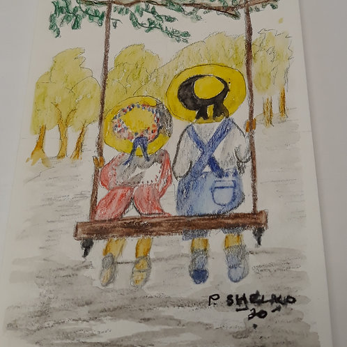 The Tree Swing Original Art Card #24