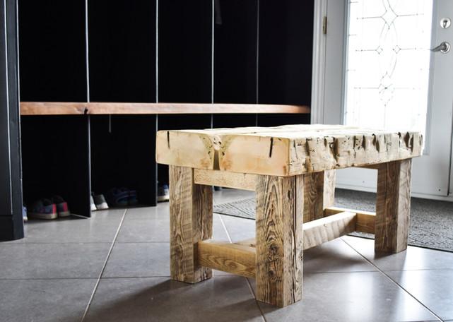 mudroom bench