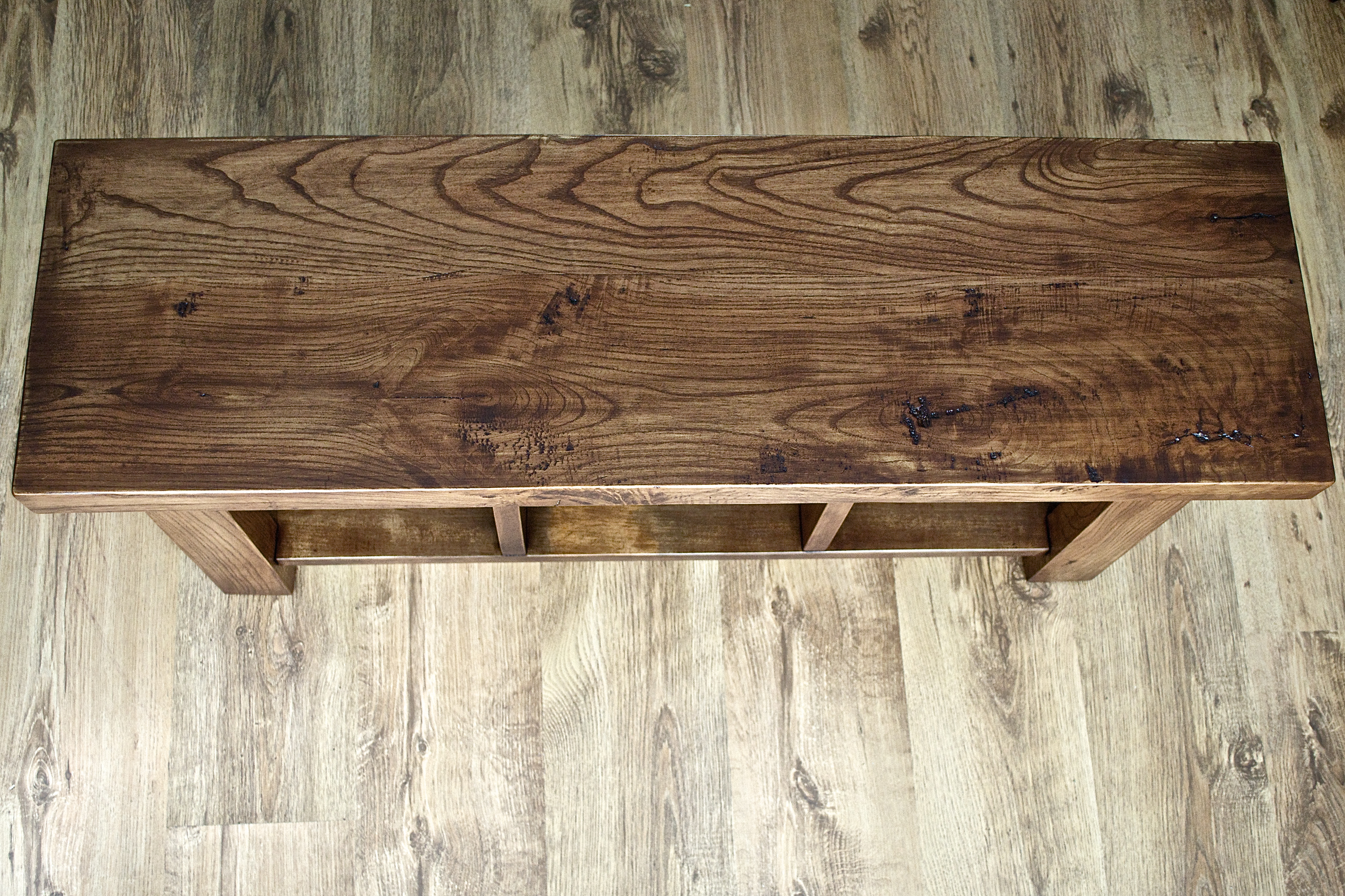 Reclaimed cherry bench