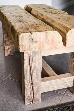 Barn beam bench