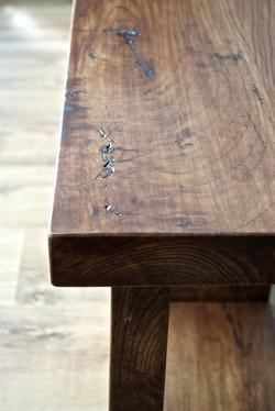 Reclaimed cherry bench