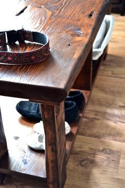 Barnboard pine bench