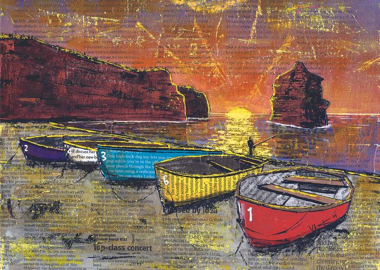 Ladram Bay Sunset