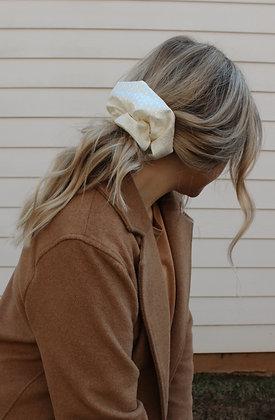 White Dove Scrunchie