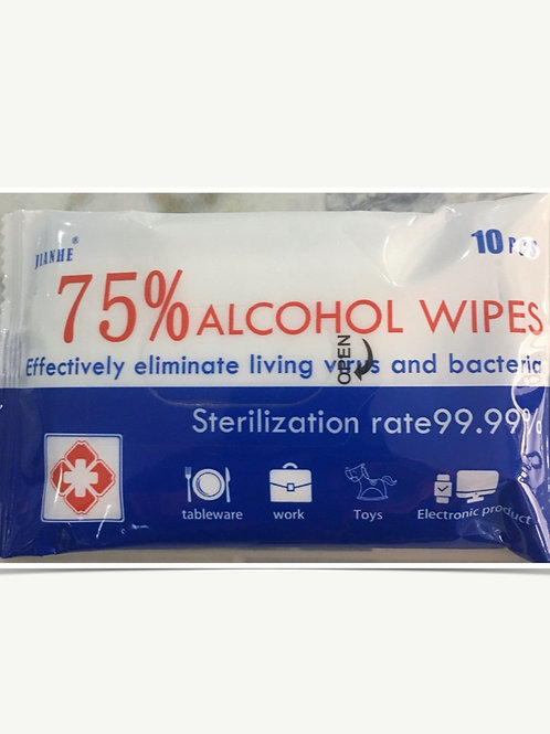Alcohol Wipe 75% (10 Packs)