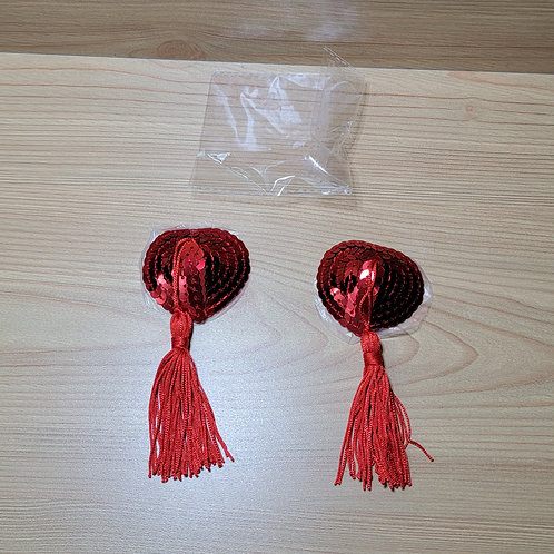 Red Nipple Covers