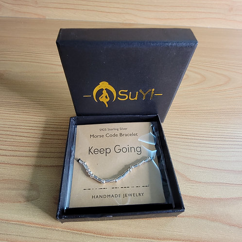 Morris Code Keep Going Necklace