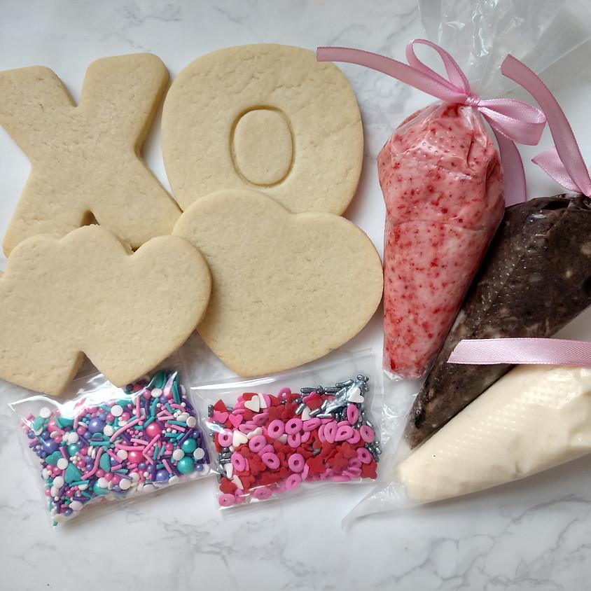 Valentine's Day DIY Cookie Decorating Kit