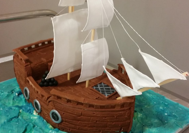 Carved Pirate Ship