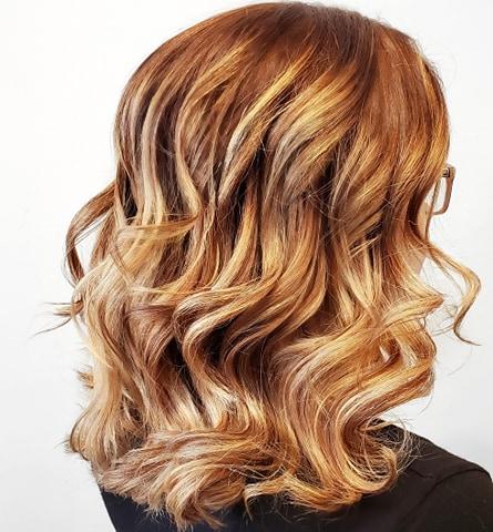 Copper Blonde Balayage