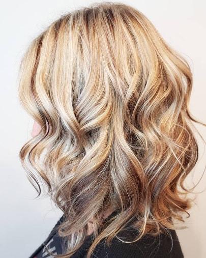 Contrasting blonde
