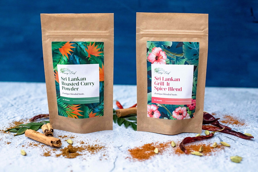 Curry Leaf Spice Range in Biodegradable Pouch, Recipe Card Included