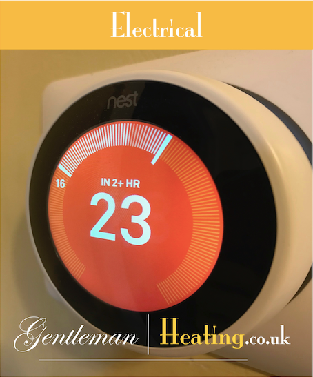 Installation of a Nest wireless thermostat by Gentleman Heating in Kent or London, polite & professional