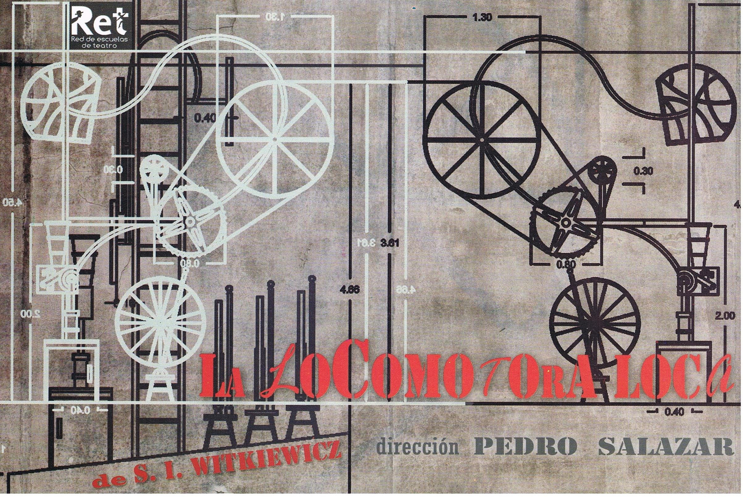 Locomotora loca afiche