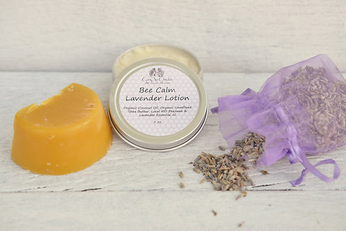 Bee Calm Lavender Lotion 2 oz Tin