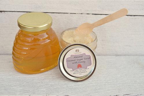 Almond Coconut Sugar Scrub with Honey