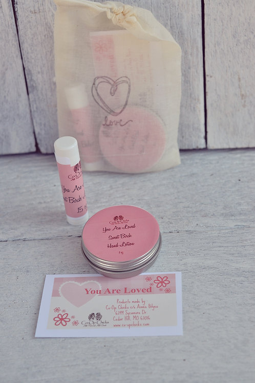 You Are Loved Sweet Birch Gift Set