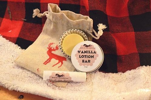 Vanilla Lotion Bar & Lip Balm Set