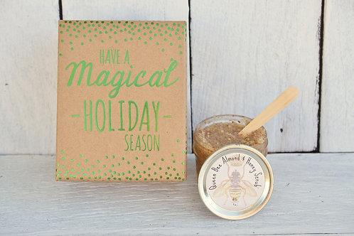 Queen Bee Almond & Honey Scrub in Gift Box