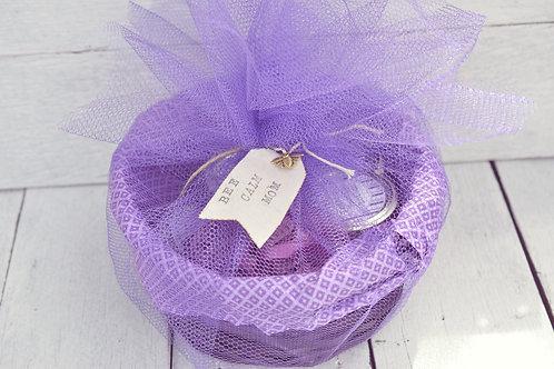 Bee Calm Mom Lavender Gift Set