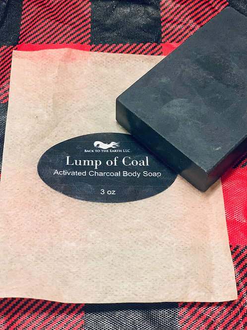 Lump of Coal Activated Charcoal Soap